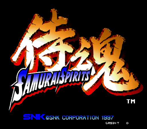 Samurai Shodown 64 + Samurai Spirits 64 Title Screen